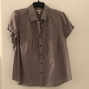 Short Sleeve, Button Down Shirt.