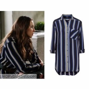 Topshop Oversize Stripe Shirt ASO Spencer Hastings