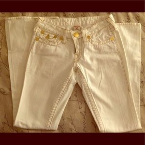 White Joey True Religion Jeans