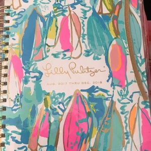 Lilly Pulitzer Jumbo Agenda Aug 2017 - Dec 2018