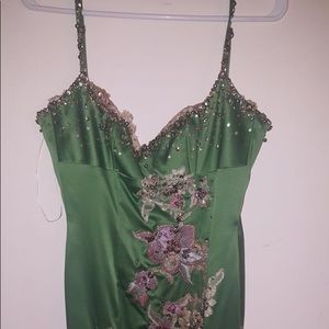 Mandalay green dress, with amazing details