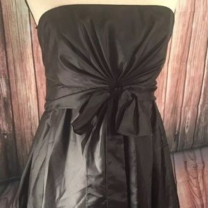Strapless, Black, Parachute, Bubble Dress