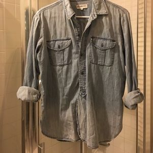 Madewell Chambray Button Down Sz S