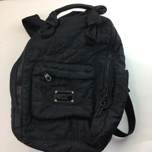 Marc by Marc Jacobs black quilted backpack