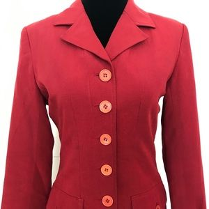 Red fitted blazer