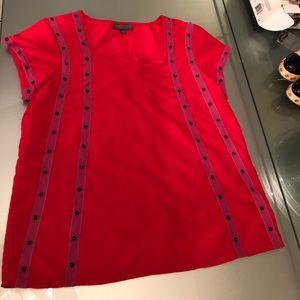 Zac Posen for Target- new Red short sleeve blouse