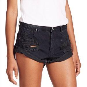 One Teaspoon | black distressed shorts