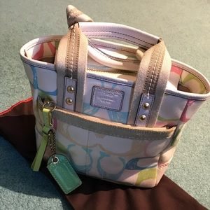 Hampton scribble C's Coach bag