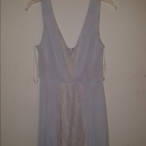 Max and Cleo dress bay blue with lace