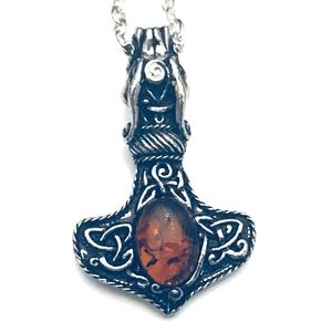 Thor's Hammer Necklace, Mjölnir Necklace