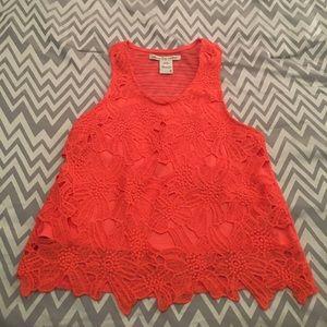 Coral crop American Rag shirt