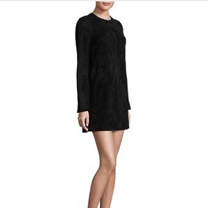 Black theory brand suede dress NWT