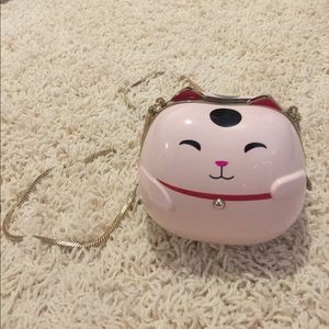 NWT Kate spade lucky cat pink