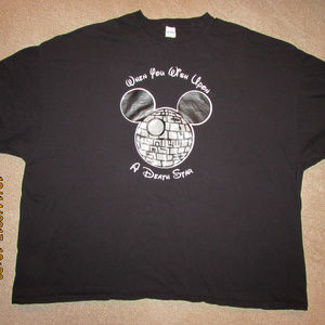 Mickey Mouse Death Star Disney Star Wars Tee Shirt