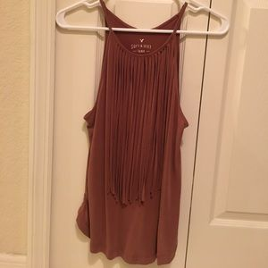 American Eagle soft and sexy fringe tank