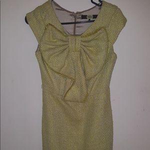 Eva Franco bow dress in yellow