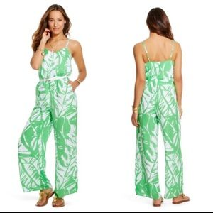 Lilly Pulitzer Boom Boom Green Floral Jumpsuit
