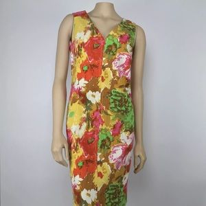 Talbots Floral Shift Dress Size 8