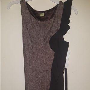 Eva Franco brown ruffle dress