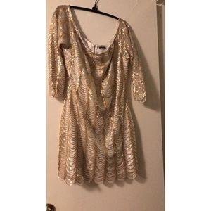 Off the shoulder sequined dress