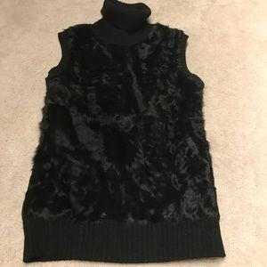 Fur BCBG vest