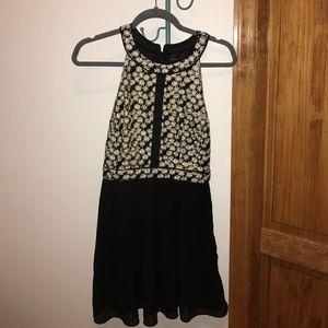 Gorgeous Neiman Marcus black pleated mini dress!