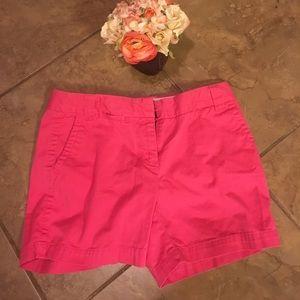 Pink j. Crew chino classic twill shorts size 4