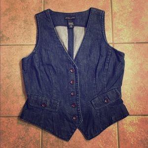 •New York & Company• Blue Jean Vest
