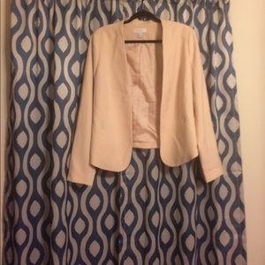 Peach/Cream Forever 21 blazer