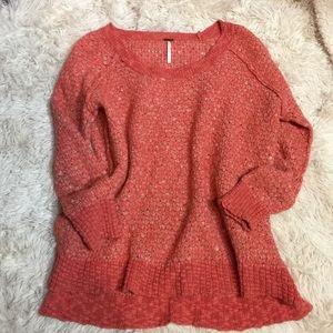 FP wool blend sweater Sz S nice orange fall color