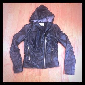 Zara Hooded Moto Jacket