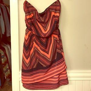 Shift dress with elastic waist