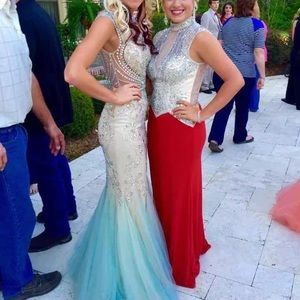 Sherri hill beaded prom dress