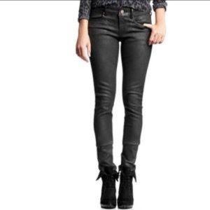 Gap black coated jeans