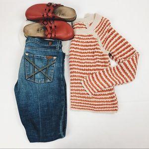 7 For all man kind embellished flare jeans 27