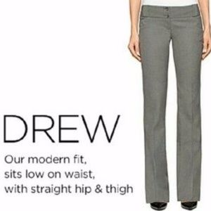 The Limited Drew fit black pinstripe pants