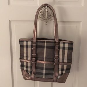 Burberry 'Shimmer Check Tote'