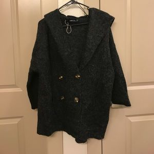 Nwot oversized Zara coat sweater hooded