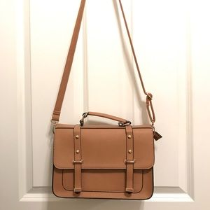 H&M camel double sided crossbody bag