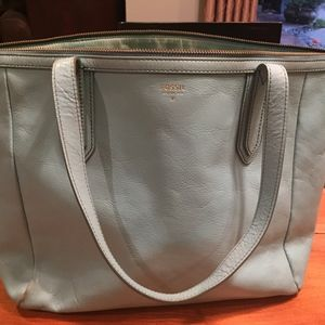 Fossil Sydney Shopper Tote and Zip-Around Wallet