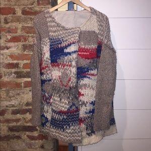 Free People Marled Knit Sweater jacket size M
