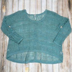 Free People oversized sheer sweater