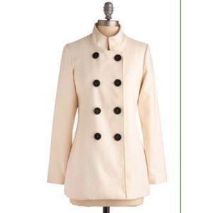 Modcloth cream coat