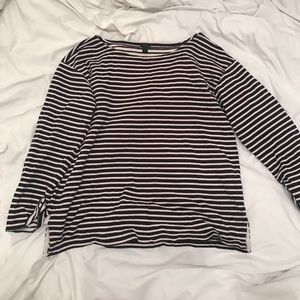 Jcrew blue white red stripe pullover