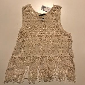 NWT Fringe Crop Top