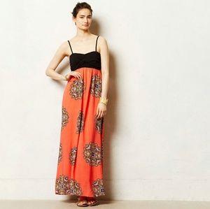 ANTHROPOLOGIE Lilka Coral Canyon Maxi Dress