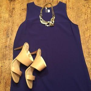 THE LOFT shift dress purple size 6