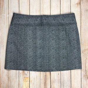 Express black and white mini skirt
