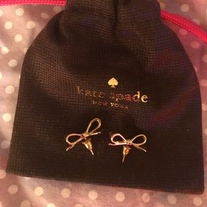 Gorgeous Kate Spade Gold bow earrings!