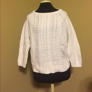 J. Crew White Knitted Sweater
